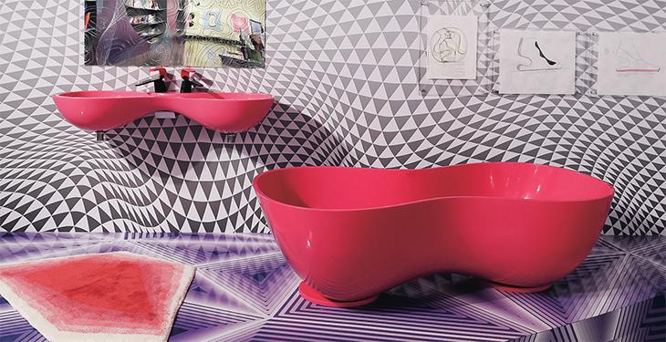 세계적인 디자이너 카림 라시드와 컬래버레이션 욕조·세면대