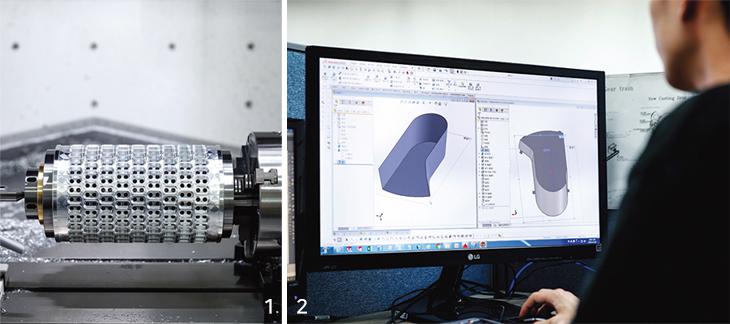 연질캡슐 모양을 성형하는 다이롤과 기술연구소 연구개발