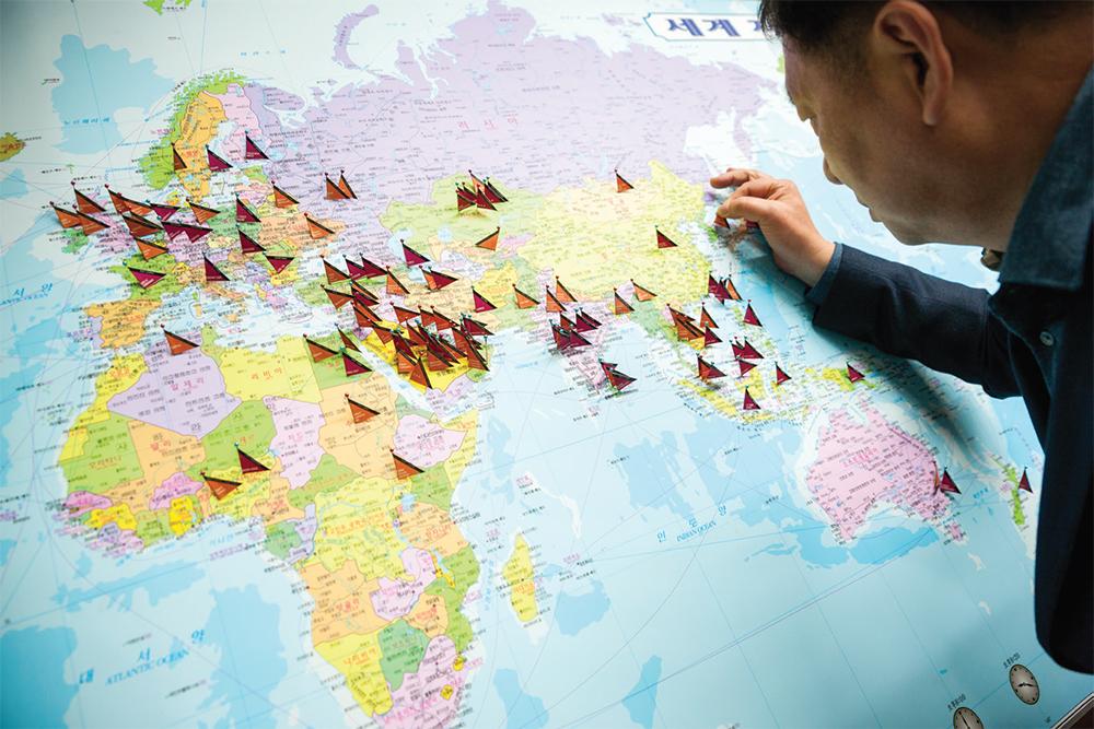 63개국 수출 세계지도
