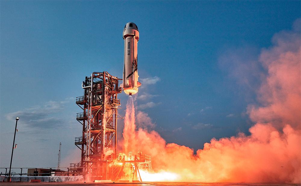 블루오리진 로켓 이륙